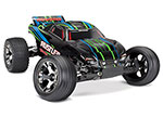 GREEN Rustler® VXL:  1/10 Scale Stadium Truck with TQi Traxxas Link™ Enabled 2.4GHz Radio System & Traxxas Stability Management (TSM)®