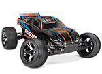 ORANGE Rustler® VXL:  1/10 Scale Stadium Truck with TQi Traxxas Link™ Enabled 2.4GHz Radio System & Traxxas Stability Management (TSM)®