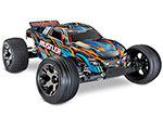 Orange/Blue Rustler® VXL:  1/10 Scale Stadium Truck with TQi Traxxas Link™ Enabled 2.4GHz Radio System & Traxxas Stability Management (TSM)®