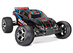 RED Rustler® VXL:  1/10 Scale Stadium Truck with TQi Traxxas Link™ Enabled 2.4GHz Radio System & Traxxas Stability Management (TSM)®