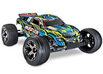 Yellow Rustler® VXL:  1/10 Scale Stadium Truck with TQi Traxxas Link™ Enabled 2.4GHz Radio System & Traxxas Stability Management (TSM)®