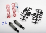 3762A Ultra Shocks (grey) (xx-long) (complete w/ spring pre-load spacers & springs) (rear) (2)