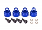 3767A Shock caps, aluminum (blue-anodized) (4) (fits all Ultra Shocks)