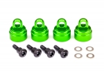 3767G Shock caps, aluminum (green-anodized) (4) (fits all Ultra Shocks)