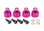 3767P Shock caps, aluminum (pink-anodized) (4) (fits all Ultra Shocks)