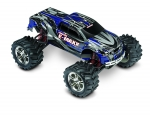 Silver/Blue E-Maxx:  1/10 Scale Electric 4WD Monster Truck with TQi Traxxas Link Enabled 2.4GHz Radio System