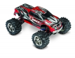 Silver/Red E-Maxx:  1/10 Scale Electric 4WD Monster Truck with TQi Traxxas Link Enabled 2.4GHz Radio System
