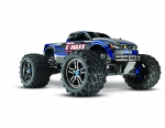 Blue E-Maxx Brushless:  1/10 Scale Brushless Electric Monster Truck with TQi Radio System and Traxxas Link Wireless Module