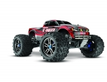 Red E-Maxx Brushless:  1/10 Scale Brushless Electric Monster Truck with TQi Radio System and Traxxas Link Wireless Module