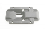 3920 Skidplate, transmission, nylon (grey)