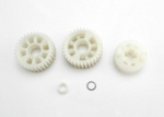 3985X Output gears, 33T (2)/ drive dog carrier/ output shaft spacer