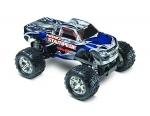 Silver/Blue Nitro Stampede: 1/10-Scale Nitro-Powered 2WD Monster Truck with TQ 2.4 GHz radio system