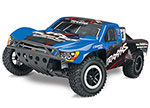 Blue Nitro Slash: 1/10-Scale Nitro-Powered 2WD Short Course Racing Truck with TQi Traxxas Link Enabled 2.4GHz Radio System and Traxxas Stability Management (TSM)