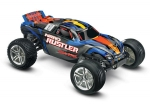 Silver/Blue Nitro Rustler®:  1/10-Scale Nitro-Powered 2WD Stadium Truck with TQi Traxxas Link™ Enabled 2.4GHz Radio System & Traxxas Stability Management (TSM)®