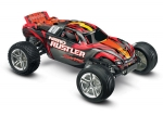 Silver/Red Nitro Rustler®:  1/10-Scale Nitro-Powered 2WD Stadium Truck with TQi Traxxas Link™ Enabled 2.4GHz Radio System & Traxxas Stability Management (TSM)®