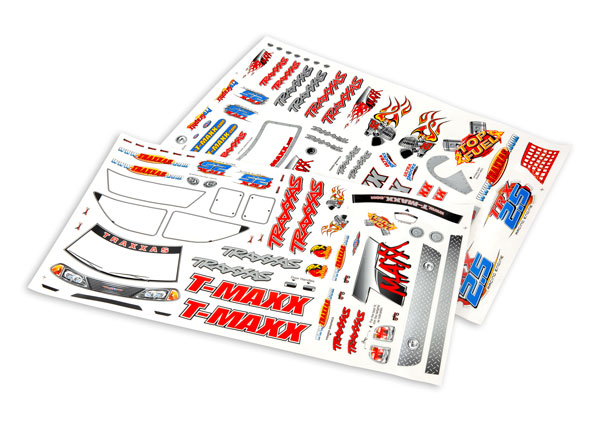 Traxxas 4913 Decal sheet ,  T-Maxx® (use with 4911X body)