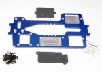 4922X Chassis, 7075-T6 billet machined aluminum (4mm) (blue)/ hardware