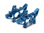 4930X Bulkheads, front (machined 6061-T6 aluminum) (blue) (l&r) (requires use of 4939X suspension pins)