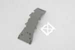 4937A Skidplate, front plastic (grey)/ stainless steel plate