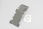 4938A Skidplate, rear plastic (grey)/ stainless steel plate