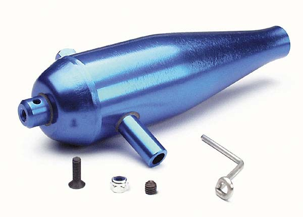 Traxxas 4942 Tuned pipe ,  high performance (aluminum) (blue-anodized) /  pipe hanger /  screws /  nuts (requires #4941)