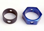 4966 Brake adapter, hex aluminum (blue)
