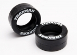 5185 Tires, rubber (2) (fits Traxxas® wheelie bar wheels)