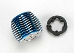 5237 Cooling head, PowerTune (machined aluminum, blue-anodized) (TRX® 2.5 and 2.5R)/ head protector (plastic)