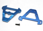 5323 Bulkhead tie bars, front & rear (blue-anodized aluminum)