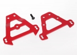 5323R Bulkhead tie bars, front & rear (red-anodized aluminum)