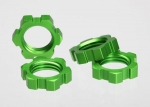 5353A Wheel nuts, splined, 17mm (green-anodized) (4)