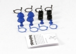 5378X Pivot ball caps (4)/ dust boots, rubber (4)/ dust plugs, rubber (4)/ dust boot retainers, black (4),  blue (4) (2 pkgs. req. to complete truck)