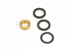 5426 Washer, 7x10x1.0 (2), 7x10x0.5 (1) black steel (shims for flywheel spacing), washer, 5x8.2.8 brass (1) (shim for clutch bell spacing) for Revo Big Block Kit