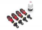 5460R Shocks, GTR aluminum, red-anodized (fully assembled w/o springs) (4)