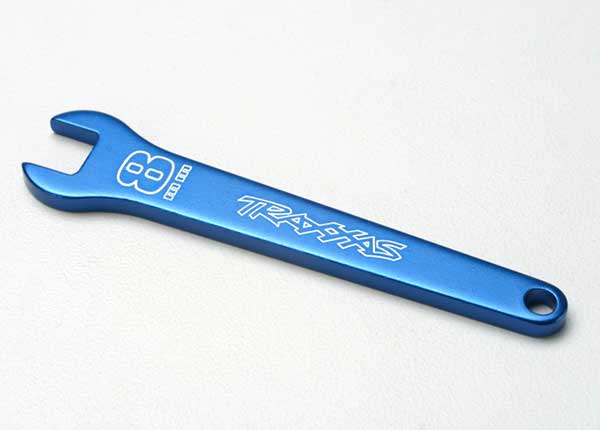 Traxxas 5478 Flat wrench ,  8mm (blue-anodized aluminum)