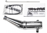 5487 Tuned pipe, Resonator, R.O.A.R. legal (aluminum, double-chamber) (fits T-Maxx® vehicles with TRX® Racing Engines)
