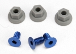 5512 Wing mounting hardware, (4x8mmCCS (aluminum)(3)/ 4x7mm flanged NL (3))