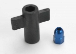 5526 Antenna crimp nut, aluminum (blue-anodized)/ antenna nut tools