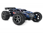 Blue E-Revo:  1/10 Scale 4WD Electric Racing Monster Truck. Ready-to-Race® with TQi Traxxas Link Enabled 2.4GHz Radio System, EVX-2 ESC (fwd/rev), and Traxxas Stability Management (TSM)