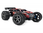 Red E-Revo:  1/10 Scale 4WD Electric Racing Monster Truck. Ready-to-Race® with TQi Traxxas Link Enabled 2.4GHz Radio System, EVX-2 ESC (fwd/rev), and Traxxas Stability Management (TSM)
