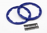 5666 Sidewall protector, beadlock style (blue) (2)/ 2.5x8mm CS (24) (for use with Geode wheels)