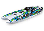 "GREEN DCB M41 Widebody:  Brushless 40"" Race Boat. Fully assembled, Ready-to-Race®, TQi Traxxas Link™ Enabled 2.4GHz Radio System, Castle Creations 540XL Brushless Motor, VXL-6s Marine ESC, Traxxas Stability Management (TSM)®, and factory-applied graph"
