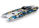 "Orange DCB M41 Widebody:  Brushless 40"" Race Boat. Fully assembled, Ready-to-Race®, TQi Traxxas Link™ Enabled 2.4GHz Radio System, Castle Creations 540XL Brushless Motor, VXL-6s Marine ESC, Traxxas Stability Management (TSM)®, and factory-applied grap"