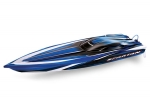 "Blue Spartan:  Brushless 36"" Race Boat with TQi Traxxas Link Enabled 2.4GHz Radio System"