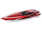 "Red Spartan:  Brushless 36"" Race Boat with TQi Traxxas Link Enabled 2.4GHz Radio System"