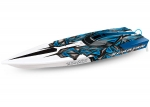 "Electric Blue Spartan:  Brushless 36"" Race Boat with TQi Traxxas Link Enabled 2.4GHz Radio System & Traxxas Stability Management (TSM)®"