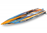 "Orange Spartan:  Brushless 36"" Race Boat with TQi Traxxas Link Enabled 2.4GHz Radio System & Traxxas Stability Management (TSM)®"