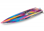 "Pink Spartan:  Brushless 36"" Race Boat with TQi Traxxas Link Enabled 2.4GHz Radio System & Traxxas Stability Management (TSM)®"