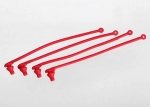 5752 Body clip retainer, red (4)