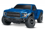 Blue Ford F-150 Raptor: 1/10 Scale 2WD Ford F-150 Raptor. Ready-To-Race® with TQ 2.4GHz radio system and XL-5 ESC (fwd/rev).  Includes: 7-Cell NiMH 3000mAh Traxxas® battery.
